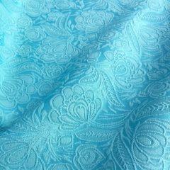 Brocart de bumbac bleu-turquoise