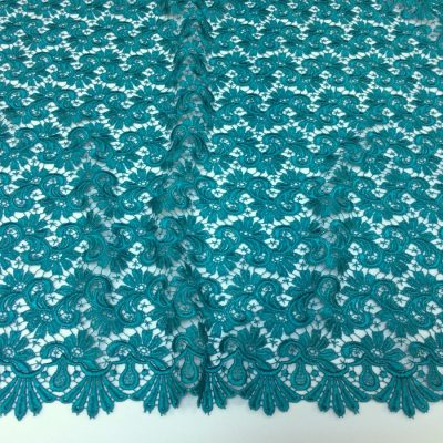 Broderie macrame verde-turquoise