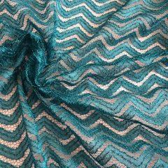 Dantela turquoise cu sclipici