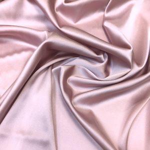 Satin de matase naturala cu elastan roz-lila-prafuit