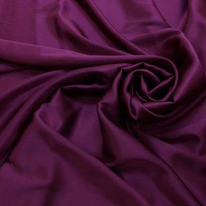 Satin de matase naturala cu elastan purpuriu