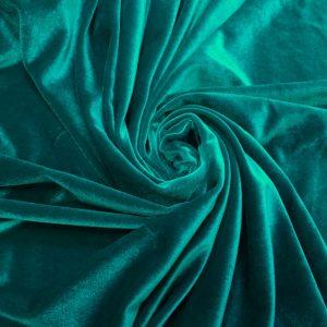 Catifea elastica verde-turquoise inchis