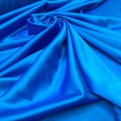 Satin gros elastic bleu-turquoise