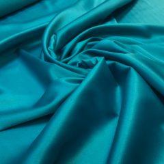 Satin gros elastic verde-turquoise