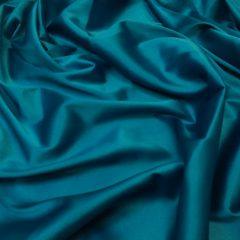 Satin gros elastic albastru-marin