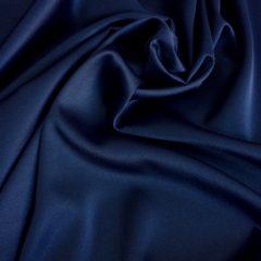 Satin gros elastic albastru-inchis