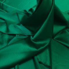 Satin gros elastic verde inchis