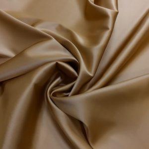 Satin de matase naturala cu elastan nude-bronze