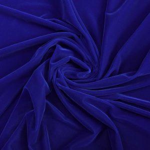 Catifea de matase albastru royal
