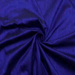 Shantung de matase naturala albastru electric-inchis