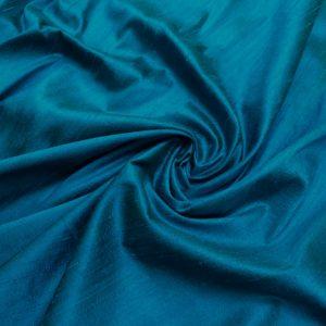 Shantung de matase naturala turquoise-inchis