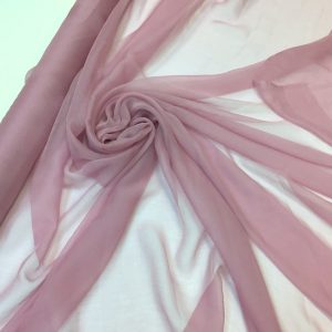 Voal creponat de matase naturala(muselina) roz-prafuit