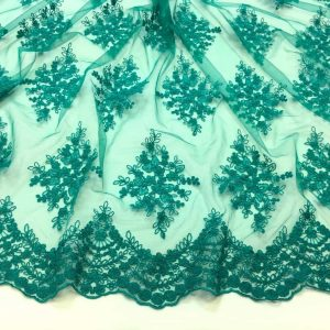 Broderie verde-turquoise