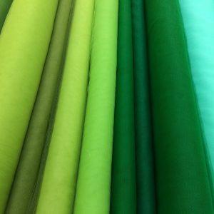 Tulle elastic nuante verde-aqua