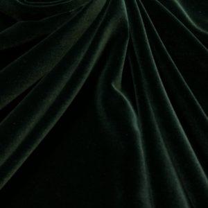 Catifea densa de matase verde-inchis