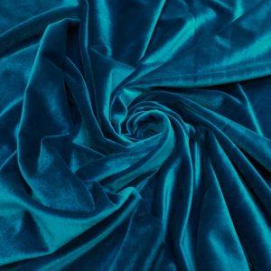 Catifea elastica turquoise-inchis