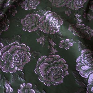 Tafta neagra flori lila