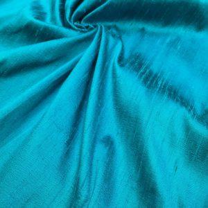 Shantung de matase naturala turquoise-verde