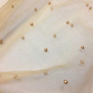 Tulle nude cu perle