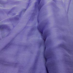 Voal creponat de matase naturala (muselina) lila
