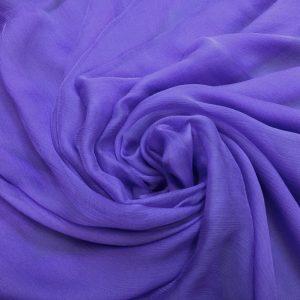 Voal creponat de matase naturala (muselina) lila-intens