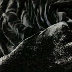 Catifea de matase naturala neagra
