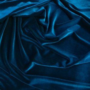 Catifea elastica albastru-turquoise