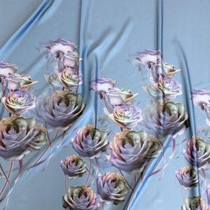 Tafta Duchesse bleu imprimata digital