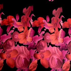 Tafta Duchesse cu bordura imprimata digital