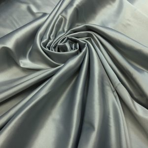 Satin gros elastic gri