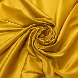 Satin gros elastic galben ocru inchis