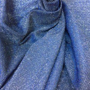 Lurex argintiu-albastru intens cu sclipici