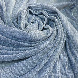 Lurex plisat bleu