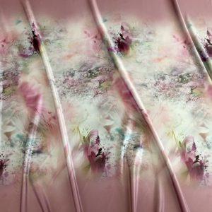 Tafta Duchesse roz-quartz imprimata digital