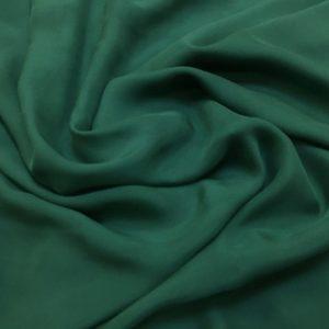 Voal chiffon de matase naturala verde prafuit inchis