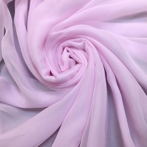 Voal creponat de matase naturala (muselina) Baby Pink