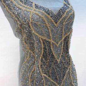 Panou tip rochie  gri-auriu