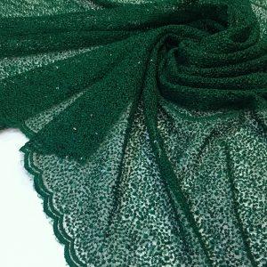 Broderie verde inchis cu paiete