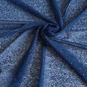 Broderie albastru inchis cu paiete