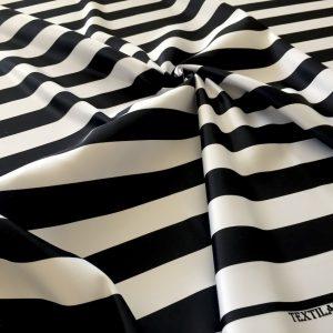 Tafta duchesse dungi alb-negru