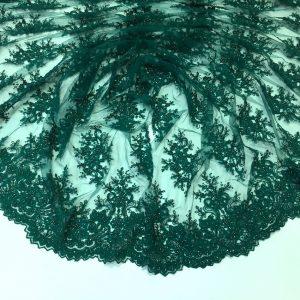 Broderie accesorizata verde-marin inchis
