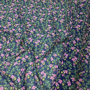 Voal subtire imprimeu floral