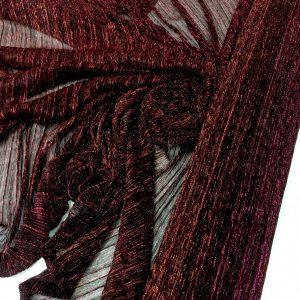 Lurex plisat bordeaux-fuchsia