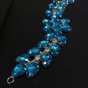 Accesoriu argintiu pietre bleu-turquoise