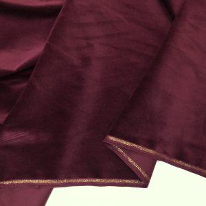 Catifea de bumbac bordeaux-inchis