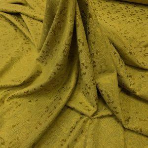 Brocart de bumbac galben-ocru