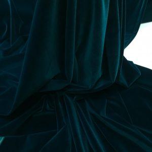 Catifea densa de matase verde-marin inchis
