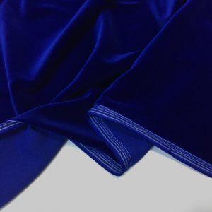 Catifea densa de matase albastru-royal
