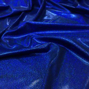 Lycra albastru-royal cu aspect metalizat