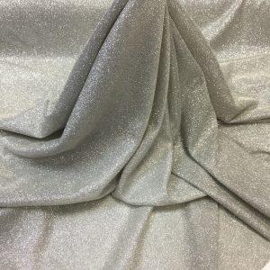 Lurex crem-argintiu cu sclipici